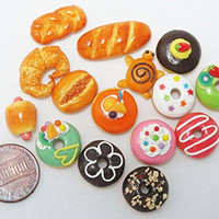 15 Mix Bakery Bread doughnut Donut Handmade Food Dollhouse Miniature Food, Barbie Food