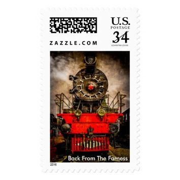 Vintage Steam Train - Back From The Farness Stamp