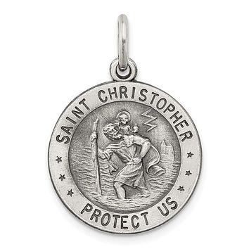 925 Sterling Silver St. Christopher US Navy Medal