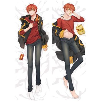 Amellor Life-sized Anime Game Mystic Messenger 707 Luciel Choi Pillow Cover Double-sided Bedding Body Hugging pillowcase gifts