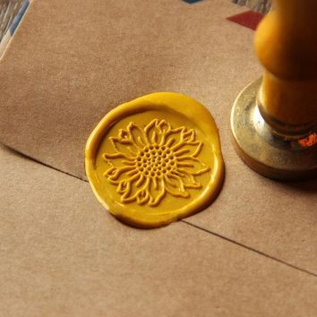 Sunflower Wax Seal Stamp/ flower Sealing Wax Seal/wedding Wax Stamp WS016