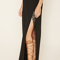 Crocheted High-Slit Maxi Skirt