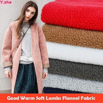 160x50cm1pc Good Lambs Fabric Warm Imitation Lambs Wool Flannel Fabric Sewing Material For Diy Inner Lining  Soft Thick Fabric