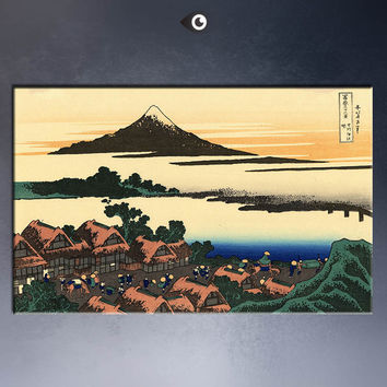 dawn-at-isawa-in-the-kai-province poster Painting By KATSUSHIKA HOKUSAI art prints on canvas for home decoration