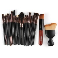 MAANGE Complete Professional Makeup Kit Full Set Make Up Brushes With Powder Puff Foundation Eyeshadow Cosmetic Brushes #225927