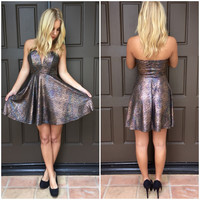 Shooting Star Strapless Dress