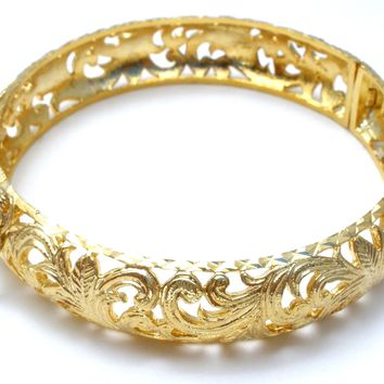 Gold over Sterling Silver Bangle Bracelet