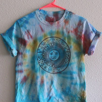 We Live by the Sun Tie Dye Tee in Sunrise