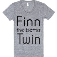 Finn the better Twin-Female Athletic Grey T-Shirt