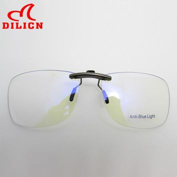 Blue Light Blocking Clip-on Computer Reading Glasses Anti Blue Rays Clip On Gaming Protection Eyewear Digital Eye Strain Relief