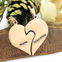Mother Daughter Necklace Heart Gold Tone Purity Pendant Infinity Necklace (2pcs)