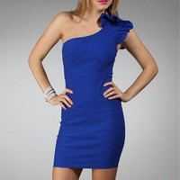 Royal Blue Fitted Dresses :: windsorstore.com