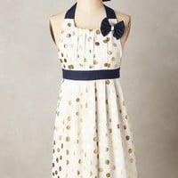 Gold Polka Dotted Apron by Anthropologie in Gold Size: One Size Aprons