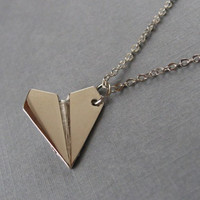 SALE--One Direction,Paper Airplane necklace.The best Christmas gift