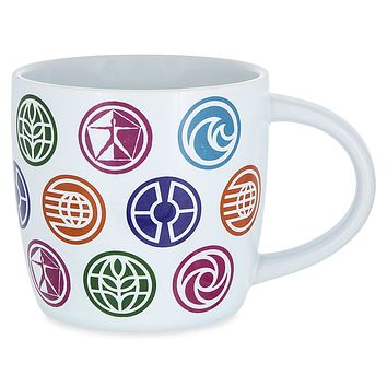 Disney 2017 Epcot 35th Anniversary Mug Symbolic Icons Of Epcot's Attractions New