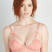Vintage Inspired Convergence of Chic Bralette in Rose