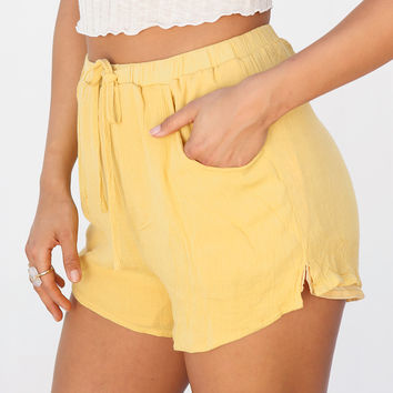 Mustard Spring Shorts - Bottoms by Sabo Skirt