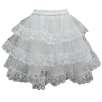 White Lace Tiered Petticoat