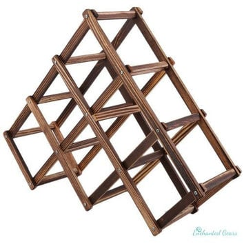 New Classical Wooden Red Wine Rack 6/10 Bottle Holder Mount Kitchen Bar Display Shelf High Quality