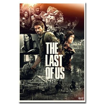 The Last of Us Silk Fabric Wall Poster Print Zombie Survival Horror Action TV Game Pitcures 12x18 20x30 24x36 inches 005