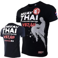 VSZAP Bangkok Boxing MMA Shirt Gym sport Shirt Fighting Fighting Martial Arts Fitness Training Muay Thai Shirt Men Homme 2018