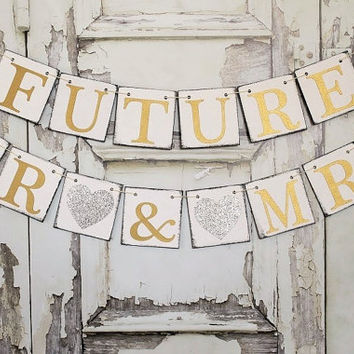 Wedding Banners RUSTIC SIGNS FUTURE MR MRS Engaged Signs Shower Rustic