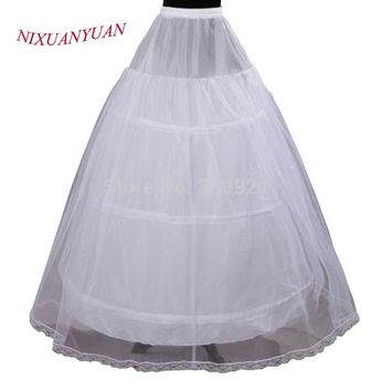 Cheap Price Hot Sale 2 layer 3 Hoop Elastic Waist Bridal Gown Drawstring Dress Petticoat Underskirt Crinoline Wedding Dress