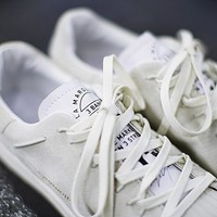 "adidas Y-3 Super Knot Superstar Running shoes ""Gray&White""AC7406"