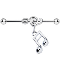 An Ear for Music Industrial Barbell | Body Candy Body Jewelry
