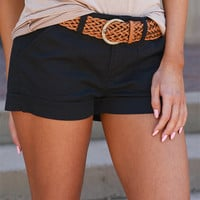 If Only Belted Shorts - Black