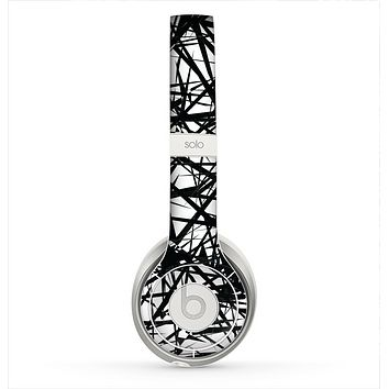The Black and White Shards Skin for the Beats by Dre Solo 2 Headphones