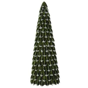 Smith & Hawken&#153 Dried Sisal Husk Tree with Faux Snow Dark Green - 19""