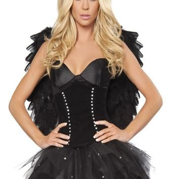 2 PC Sexy Dark Angel Costume @ Amiclubwear costume Online Store,sexy costume,women's costume,christmas costumes,adult christmas costumes,santa claus costumes,fancy dress costumes,halloween costumes,halloween costume ideas,pirate costume,dance costume,cos