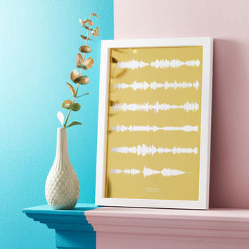 Limited Edition Personalised Song Soundwave Print