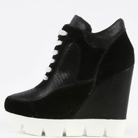Dollhouse Runway Lug Sole Wedge Sneakers