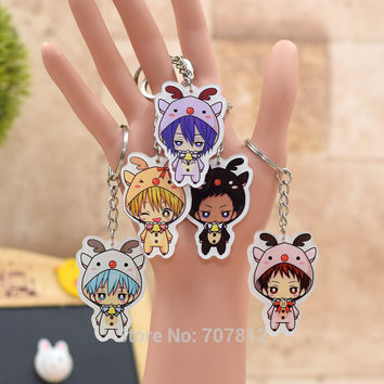 Kuroko no Basket acrylic Keychain Pendant Car Key Chain Key Accessories Cute Japanese Cartoon Collection 7 Styles H009 LTX1