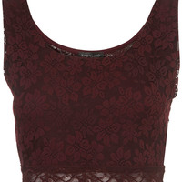 Lace Crop Top - Jersey Tops - Clothing - Topshop USA