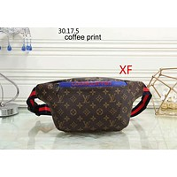 GUCCI women fashionable and elegant Fanny pack single shoulder bag F-LLBPFSH Coffee print