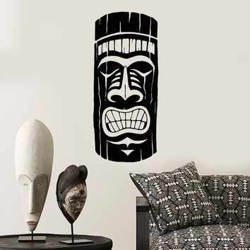 Vinyl Wall Decal Ancient African Mayan Mask Ethnic Style Stickers (2511ig)