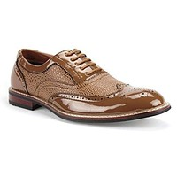 Ferro Aldo Men's 139001P Formal Wing Tip Patent Leather Dress Oxfords Shoes