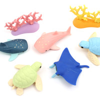 JetPens.com - Iwako Aquarium Novelty Eraser - 7 Piece Set
