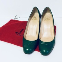 Christian Louboutin Green Wedge Heel Size 40.5