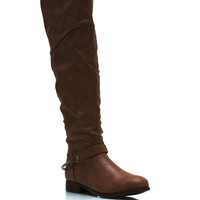 Pedal-To-The-Metal-Riding-Boots BLACK BROWN CHESTNUT - GoJane.com