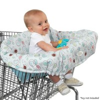Jamesmountsandmore Compact 2-in-1 Shopping Cart Cover (Green Cows)