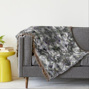 Silver Lace Throw Blanket