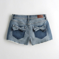 Girls Vintage Stretch High-Rise Denim Vintage Shorts | Girls Clearance | HollisterCo.com