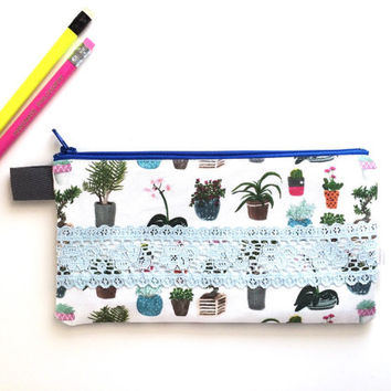 House Plants with Lace Divided Pencil Case (handmade philosophy's pattern)