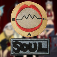 Soul Eater Soul Evans Cosplay Anime Soul and Mat Embroidered Sew-on Patch/Badge
