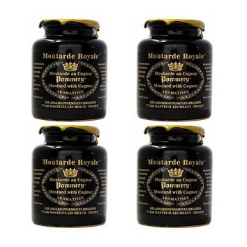 8.8 oz x 4-Pack Pommery Royal Mustard with Cognac