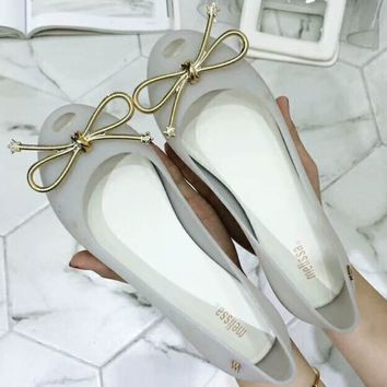 Melissa 2018 Summer New Women's Tide Brand Fashion Jelly Shoes F-ALXY silver